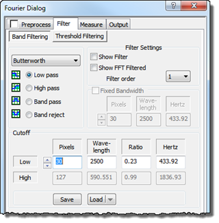 SPIP User's Guide - Band Filtering